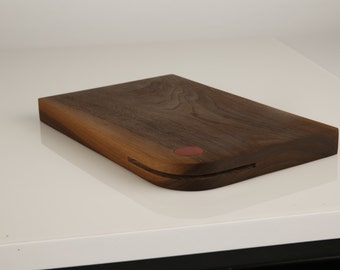 Walnut Chopping Board with Integrated Knife Sharpener