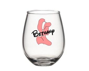 Disney princess inspired Cinderella Wine Glass - 20 oz.Wine Glass -Disney Gift - Princess Wine Glass - Personalized Disney Wine Glass