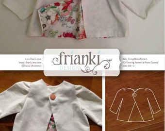Baby Girl Swing Jacket - PDF Sewing Pattern and Photo Tutorial - Sizes 000 to 2 - Instant Download - Baby Toddler Kids Child