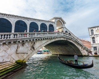 Venice Photography, Rialto Bridge, Italy Photography, Home Decor, Wall Art