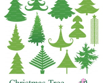Christmas Tree SVG Vector EPS Cutting file Digital Xmas Noel Silhouette Cameo cutter Scrapbooking Cardmaking Laser EasyCutPrintPD