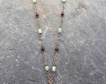 Garnet and Prehnite Necklace