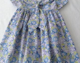 Classic Liberty Tana Lawn Sailor Dress for a Little Girl