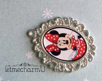 Minnie Mouse Pendant - Minnie Mouse Necklace - Minnie Necklace - Minnie Mouse Jewelry - Disney World Necklace - Disney World Jewelry