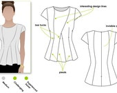 Cyd Top - Sizes 4, 6, 8 - Woven Women's Top PDF Sewing Pattern by Style Arc - Sewing Project - Digital Pattern