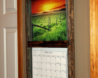 Rustic, Reclaimed Calendar Holder