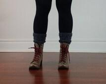 BiKay's Charcoal Boots Cuff, Gift Under 50, Stocking Stuffers