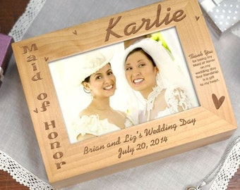 Maid of Honor Photo Keepsake Box, Maid of Honor Gift, Matron of Honor Gift