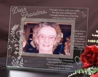 Engraved In Memory Of Glass Picture Frame