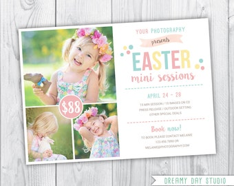 spring mini session template / easter mini session / photography mini session / mini session template / mini session / easter mini / PSD