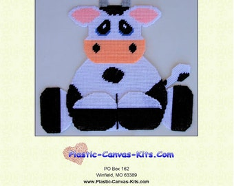 Cow Wall Hanging-Plastic Canvas Pattern-PDF Download