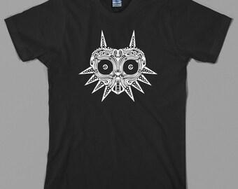 Majora's Mask inspired T Shirt  - legend of zelda, link, nintendo, ocarina, nes, n64, 64, videogame - All sizes & colors available