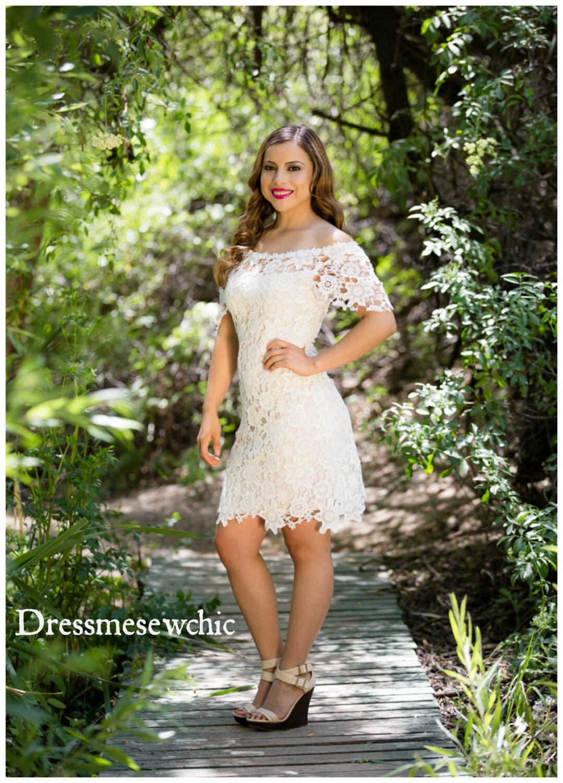 Bohemian OFF Shoulder Mini Short Wedding Dress by