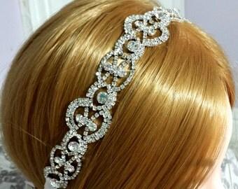 Bridal Headband - Rhinestone Headband - Bridal Headpiece - Wedding Headband - Wedding Headpiece
