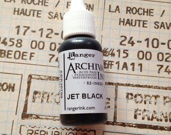 black archival re-inker