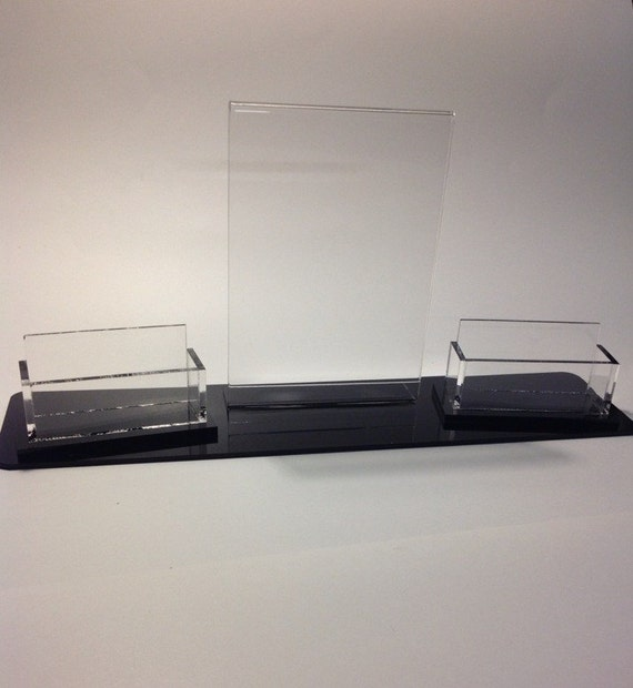 Business card holder with flyer for Flyer and business card holder
