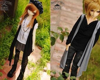 Asymmetrical long vest - 2 COLORS - BJD 1/4 1/3 SD13 MSD Boy Girl