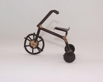 Tricycle Statue, Metal Art, Welded Metal Art, Scrap Metal Art, Welded Art, Metal Art Sculpture, Scrap Metal, Welding Art, Recycled Metal Art