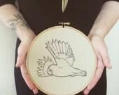 Owl Embroidery, Owl needle art, Hand Embroidered Owl, 7 Inch Bamboo Hoop, Animal Art, Owl Illustration, Hoop Art, Handmade, 10% to charity