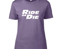 Fast & Furious Inspired Clothing - Ride or Die Heathered Crew Neck - Ladies
