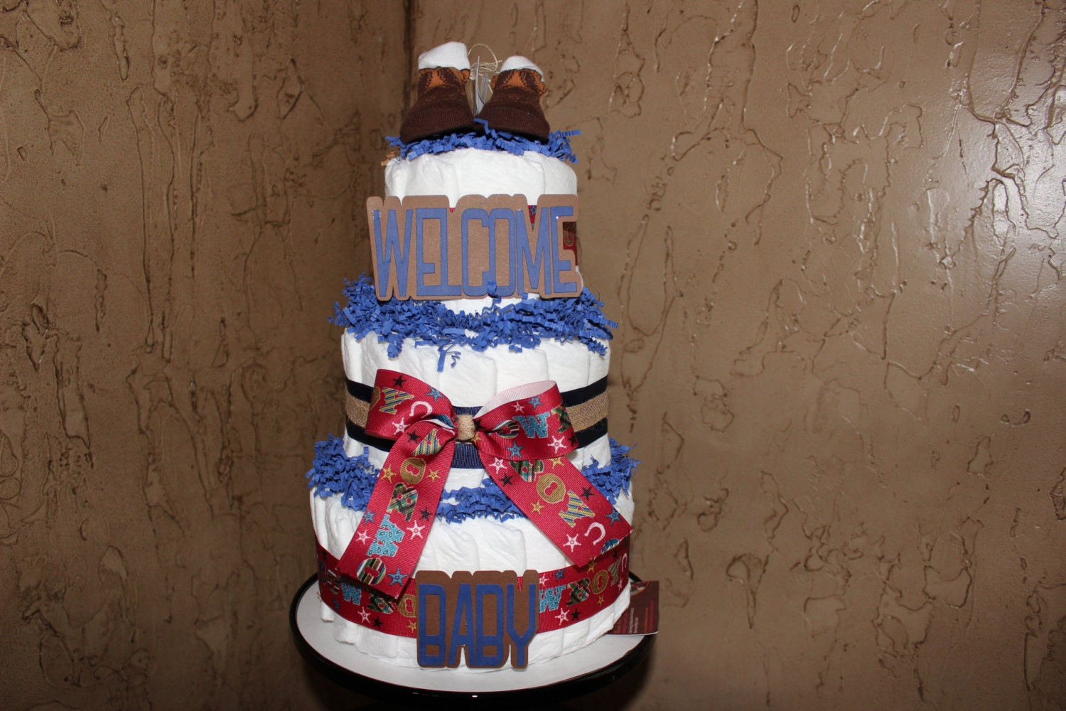 cowboy diaper cake cowboy baby shower by everylittledetailllc