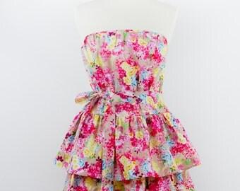 Flirty floral apron, cotton apron, Apron Oh Lala 2