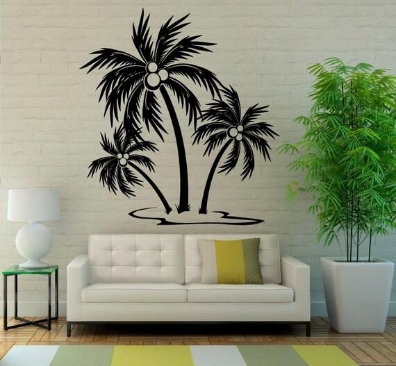 Palm Tree Wall Decal Vinyl Stickers Nature Beach Sea