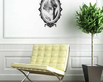 Wall decal Baroque Frame, Picture frame wall sticker, Baroque wall sticker, Vinyl wall sticker, Wall stencil, Wall decoration