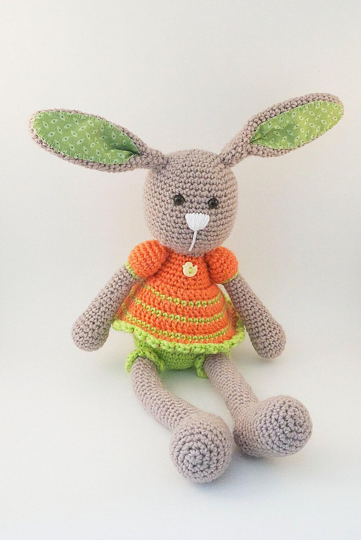 Amigurumi Doll Skirt : FREE SHIPPING Amigurumi crochet doll Cute bunny wearing an