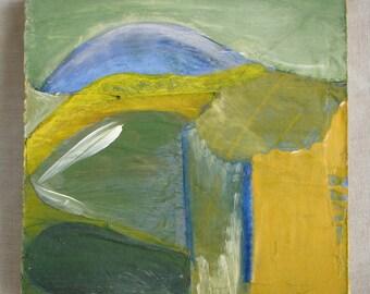 """UNTITLED   6"""" X 6"""" Acrylic & mixed media painting on masonite"""