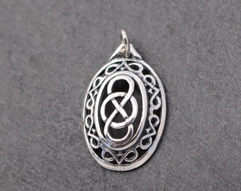 Unique Celtic Knot Pendant -  Sterling Silver, Charm, Irish, Scottish