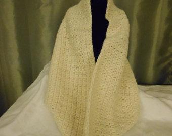 Hand Crocheted Cream Colored Cowl