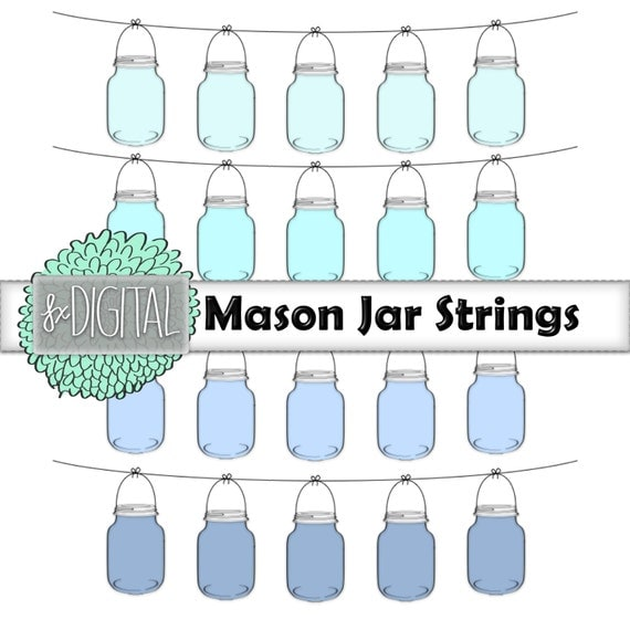 Mason Jar String Lights Mason Jar Clipart Mason Jar Clip