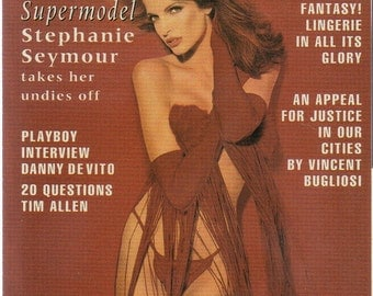 MATURE - Playboy Trading Card February 1993 - Cover - Stephanie Seymour - Card #118