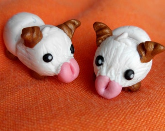 Poro Pair of Gauge Earrings League of Legends Kawaii Whole body Fake or Real gauge plug