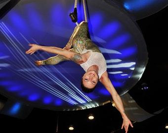 Mermaid Unitard for aerial trapeze, lyra, silks