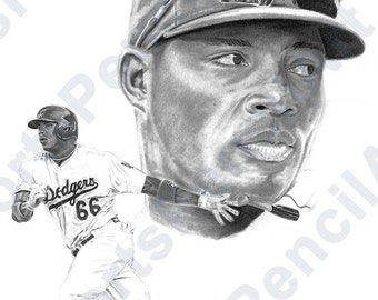 Yasiel Puig Pencil Illustration - Print