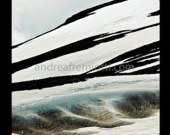 Abstract Alaskan glacier photo 12x12 or 20x20 print