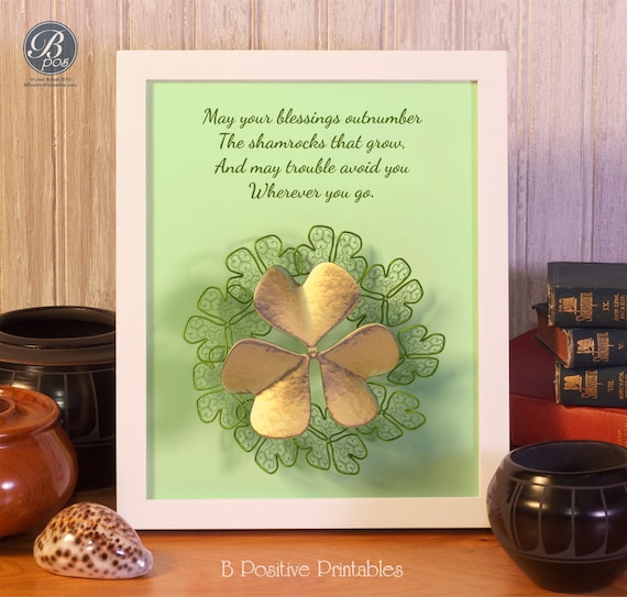 Irish Blessing Wall Art Home Decor Printable May Your