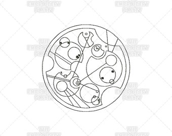Dr Who's Name In Gallifreyan Machine Embroidery Pattern