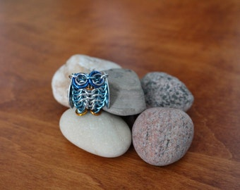 Chainmaille Frosty Owl