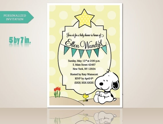 Snoopy Baby Shower Invitations is one of our best ideas you might choose for invitation design