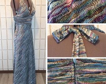 Halter dress made in super soft knit