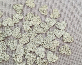 Gold Glitter Heart Confetti, Wedding Confetti, Bridal Shower, Baby Shower,Gold Wedding Decor,Gold Glitter Heart,Table Decor, Party Confetti