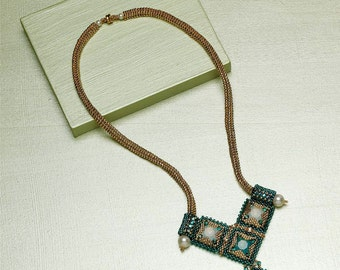 Dramatic Deco Necklace Beadwork Project - EP9371