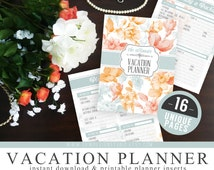 Ultimate Vacation Travel Honeymoon Planner Organizer Kit - Instant Download - Printable DIY - 16 Unique Pages - Checklists, Attractions