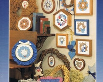 Country Wreaths, Cross Stitch Patterns, Country Designs, Country Home Wall Hanging, Goose, Patchwork Hearts, Teddy Bear, Cats, Grapevine