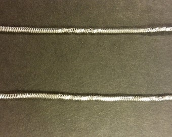 1 Twist Chain Silver 18 inch 1.7mm - Free Combined Shipping