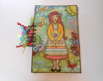 Junk Journal, Scrapbook, Colorful Journal, Smash Book