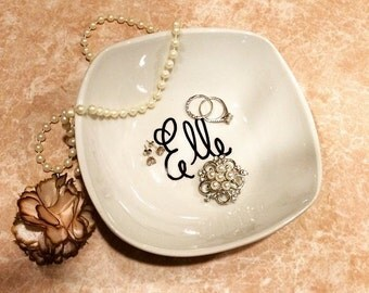 Personalized Jewelry Dish, Ring Dish, Customized, Monogram